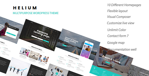 Helium – 10 in 1 Marketing WordPress Theme