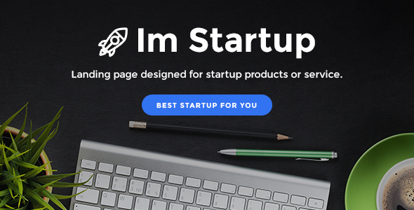 ImStartup – Startup Landing Page WordPress Theme