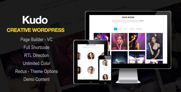 Kudo – Portfolio, Marketing Landing Page WordPress Theme