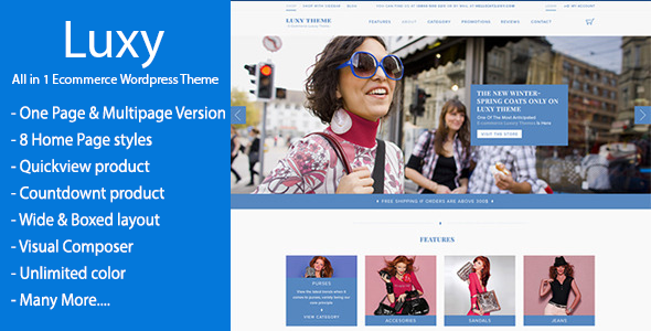 Luxy – WooCommerce WordPress Theme