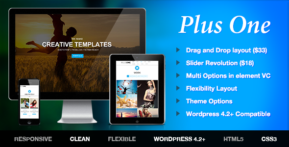 Plus – One Page Marketing Portfolio WordPress Theme