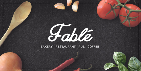 Fable – Restaurant Bakery Cafe Pub WordPress Theme