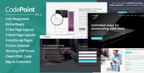 CodePoint – Multi-Purpose Landing Page WordPress Theme