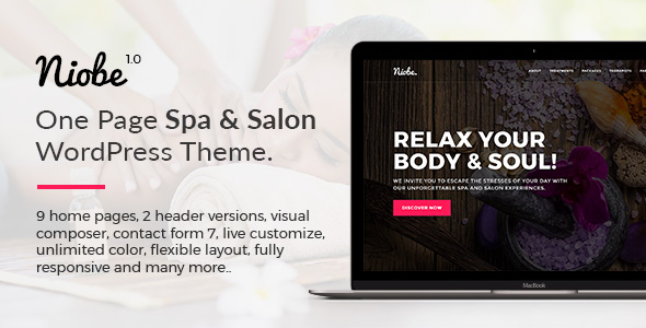 Niobe – Spa & Salon WordPress Theme