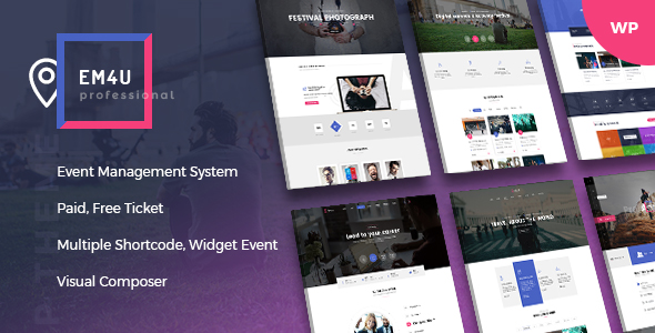 EM4U – Event Management Multipurpose WordPress Theme