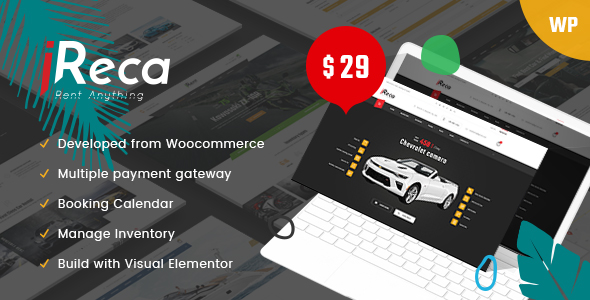 Ireca – Rental System WordPress Theme
