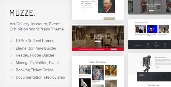 Muzze – Museum Art Gallery Exhibition WordPress Theme