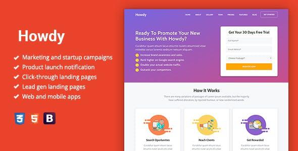 Howdy – Multipurpose High-Converting Landing Page WordPress Theme