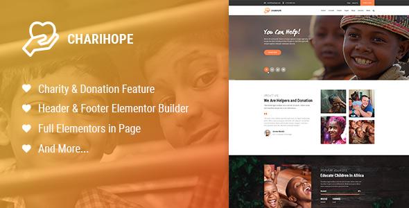 Charihope – Charity and Donation WordPress Theme